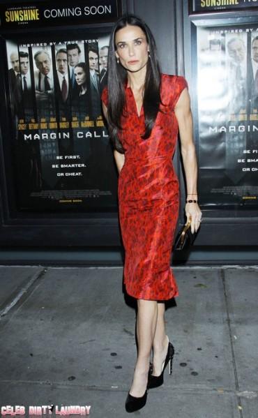 Scarlet Clad Demi Moore