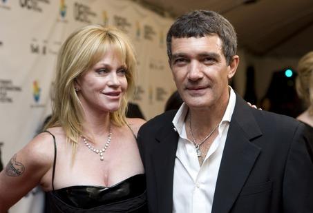 Antonio Banderas and his wife Melanie Griffith